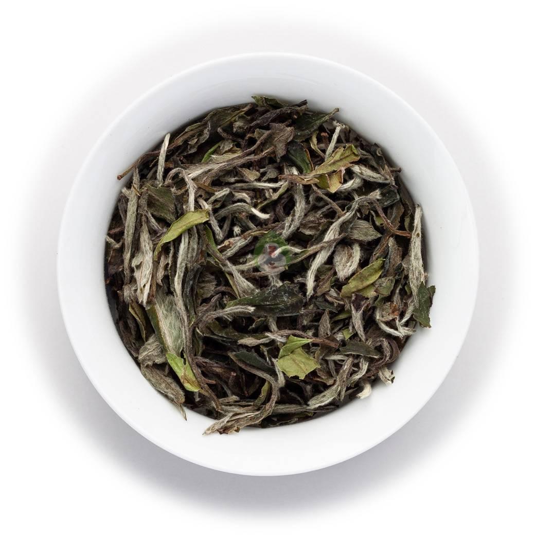 """Купить китайский белый чай """"бай му дань в.к."""" с типсами 50г. в москве в интернет магазине чая ayurveda-om.ru"""