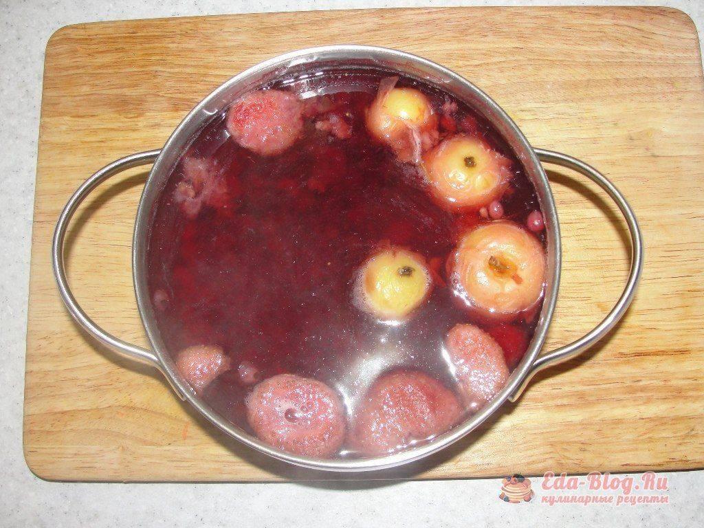 Кисель из замороженных ягод клюквы и брусники