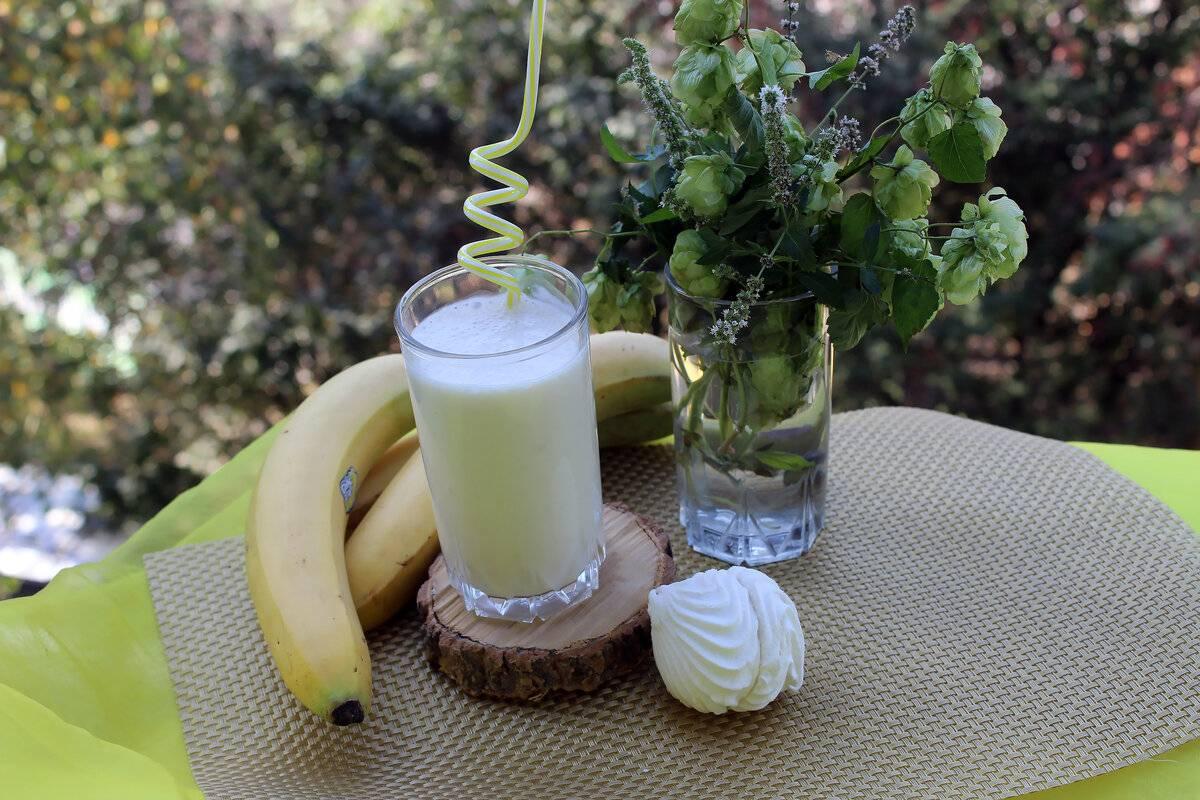 Банановый смузи— полезные свойства и вкусные рецепты приготовление