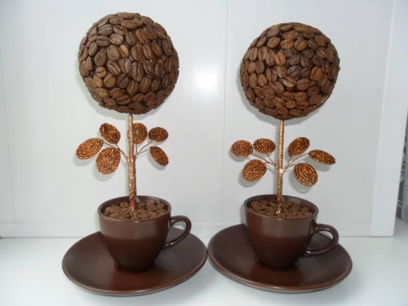 Топиарий из кофе в чашке «пряности востока»: мастер-класс, фото и видео