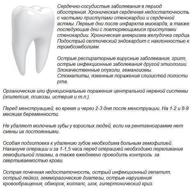 Почему нельзя есть и пить после удаления зуба