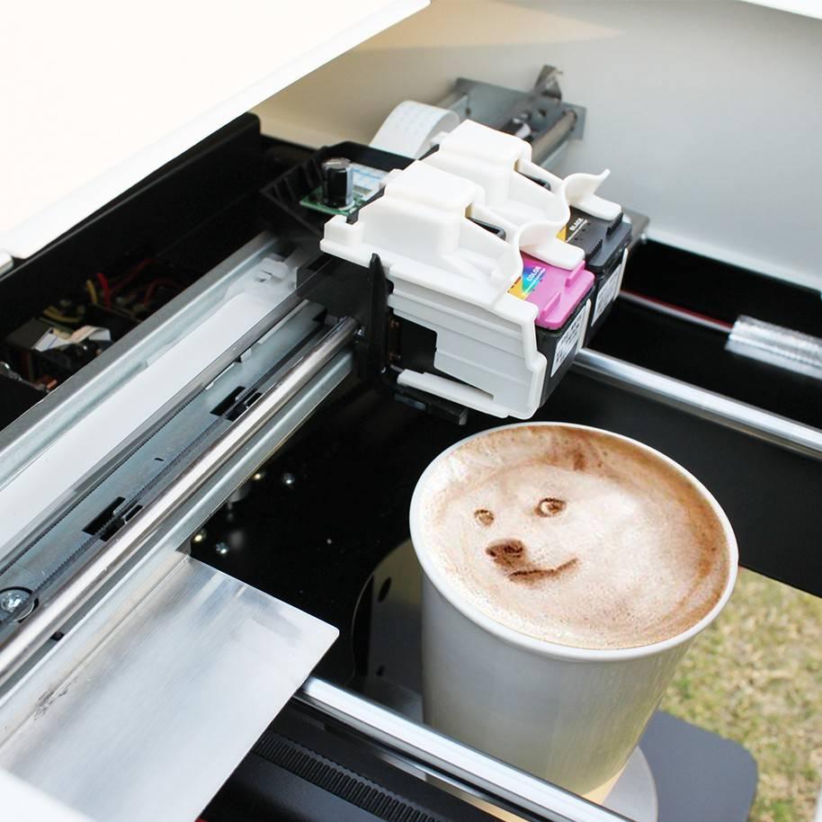 Кофепринтер принтер для печати на кофе coffee printer