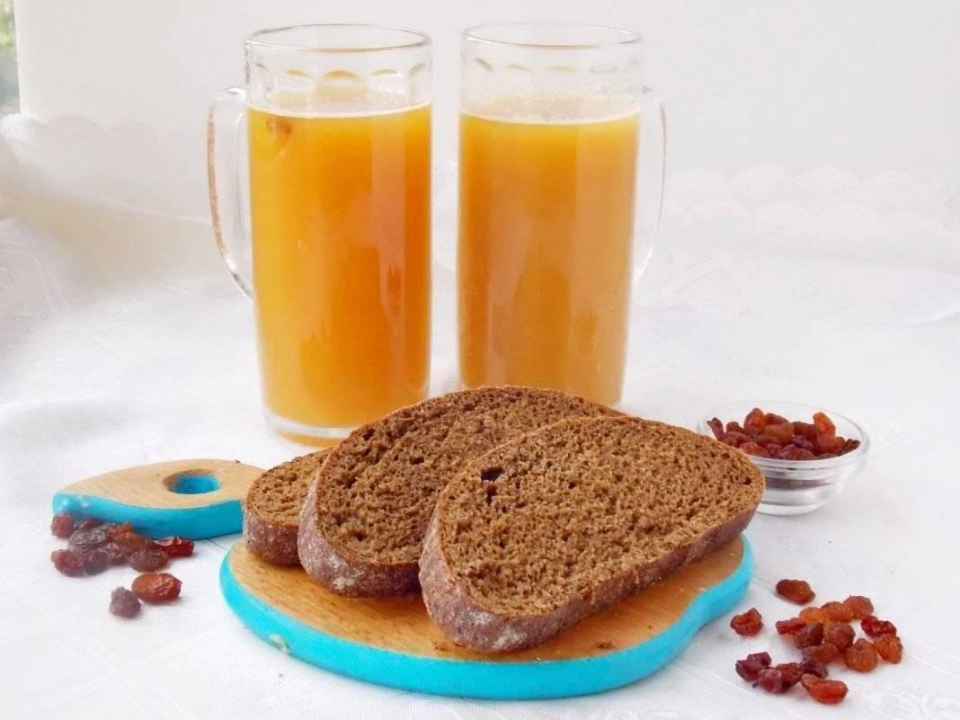 Домашний хлебный квас без дрожжей рецепт с фото пошагово и видео - 1000.menu
