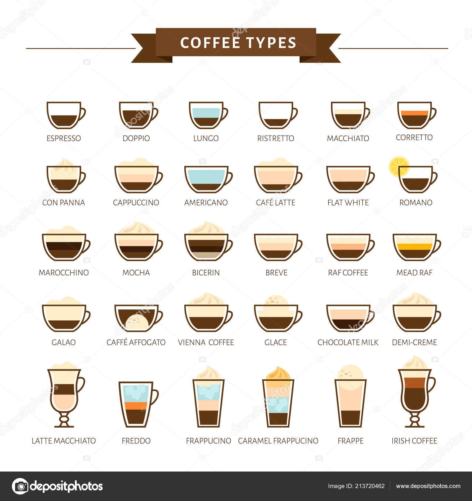 Разновидности кофе и способы их приготовления
