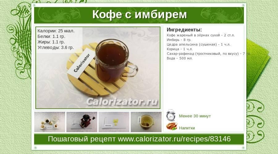 Сколько калорий в растворимом кофе без сахара