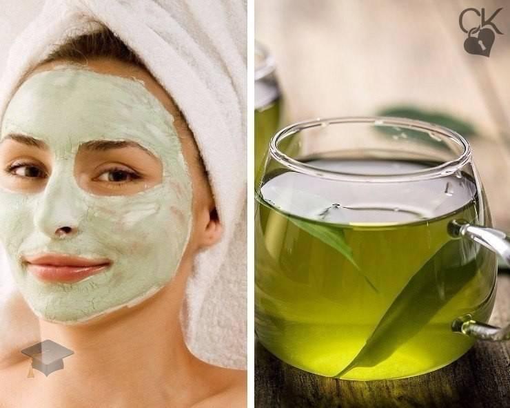 Зеленый чай для лица - приготовление масок дома, плюсы и минусы.