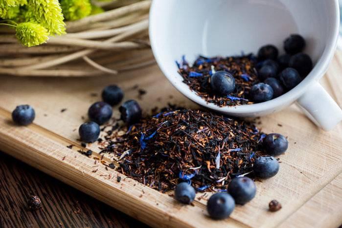 Рецепты черничного чая с ягодами и листьями