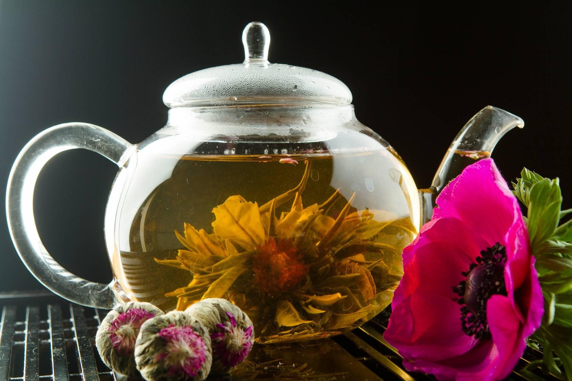 Как заваривать зеленый связанный чай который распускается как цветок