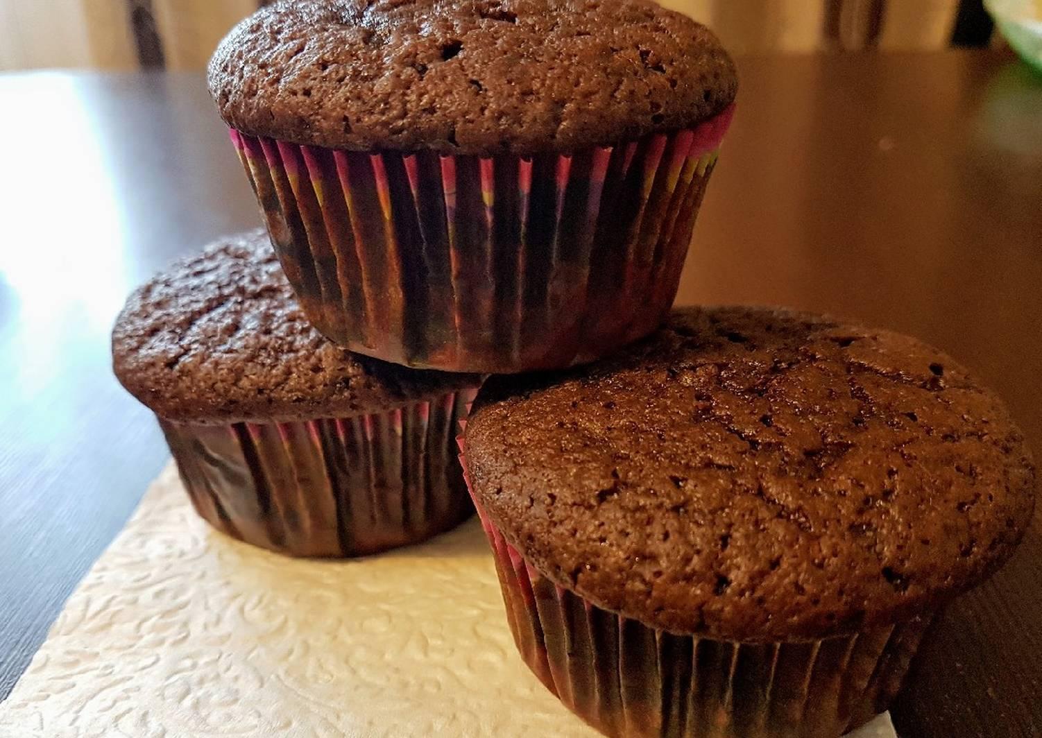 Шоколадные кексы на кефире: фото и рецепты выпечки в духовке, мультиварке и микроволновке
