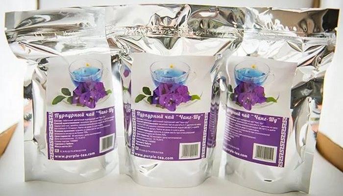 Пурпурный чай чанг шу: состав, инструкция по применению и противопоказания