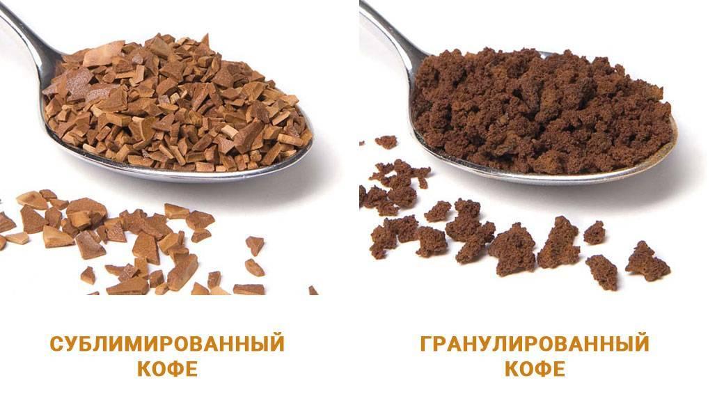 Сублимированный растворимый кофе: что это, как делают, вред и польза, отличия от гранулированного, рецепты