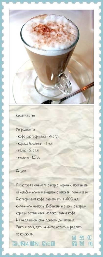 Технология приготовления латте в кофемашине