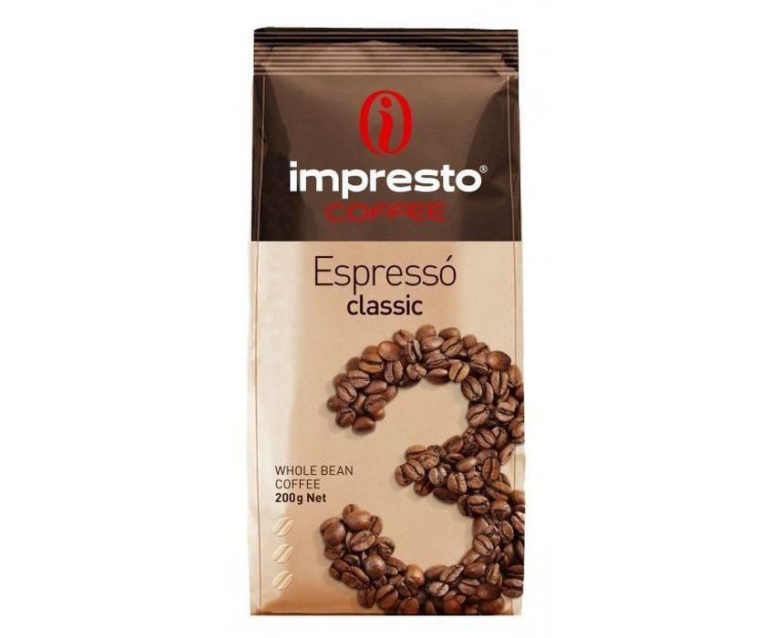 Молотый кофе impresto bossanova 250 гр — цена, купить в москве