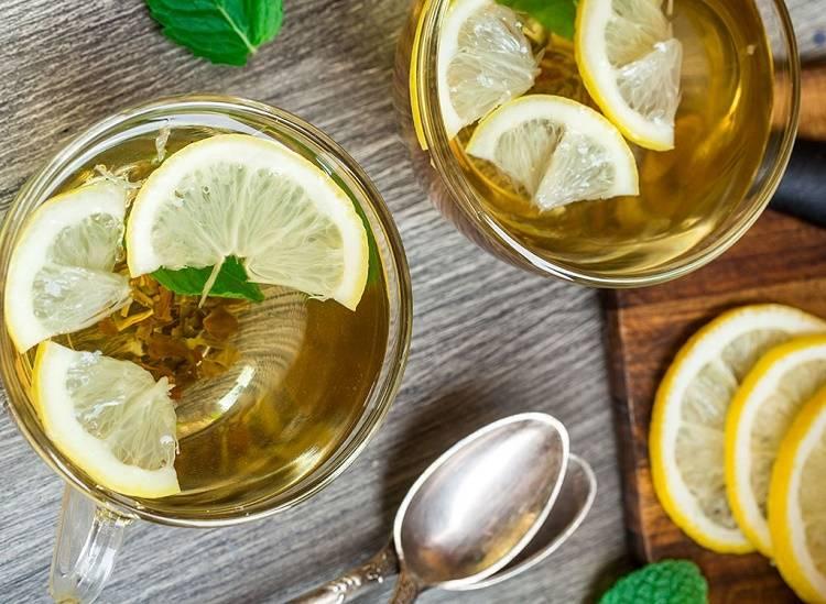 Черный чай с добавлением лимона