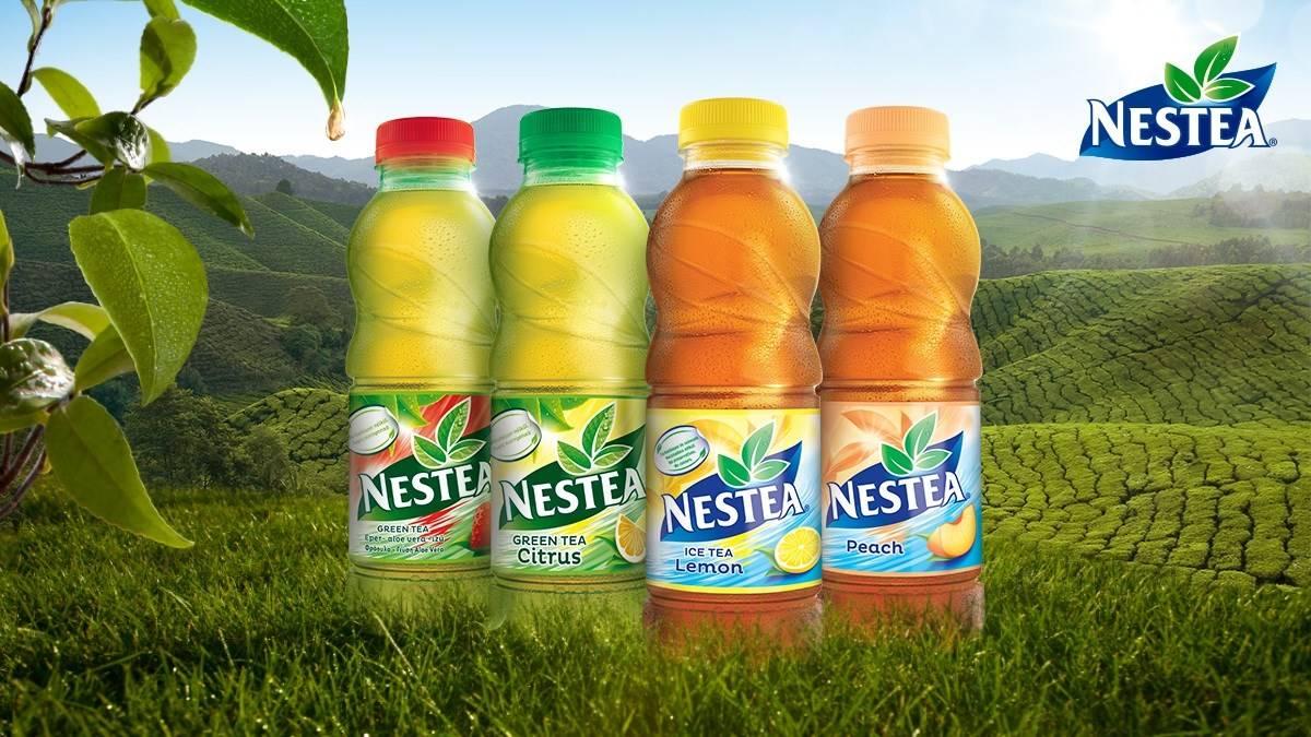Чай нести: холодный зеленый чайный напиток от фирмы nestea, фото