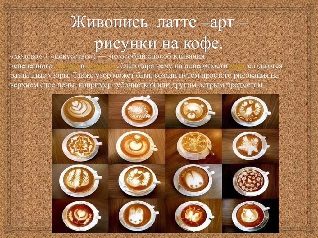 Как называется кофе с рисунком на пенке | как варить кофе