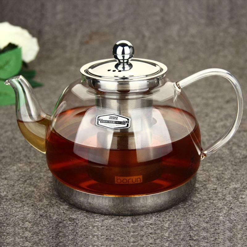 Виды заварочных чайников из стекла по материалам и функциональности