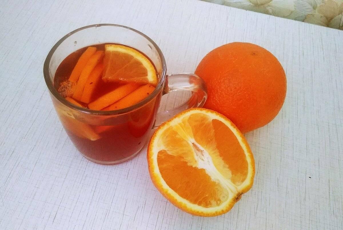 Лучшие рецепты имбирного чая с апельсином