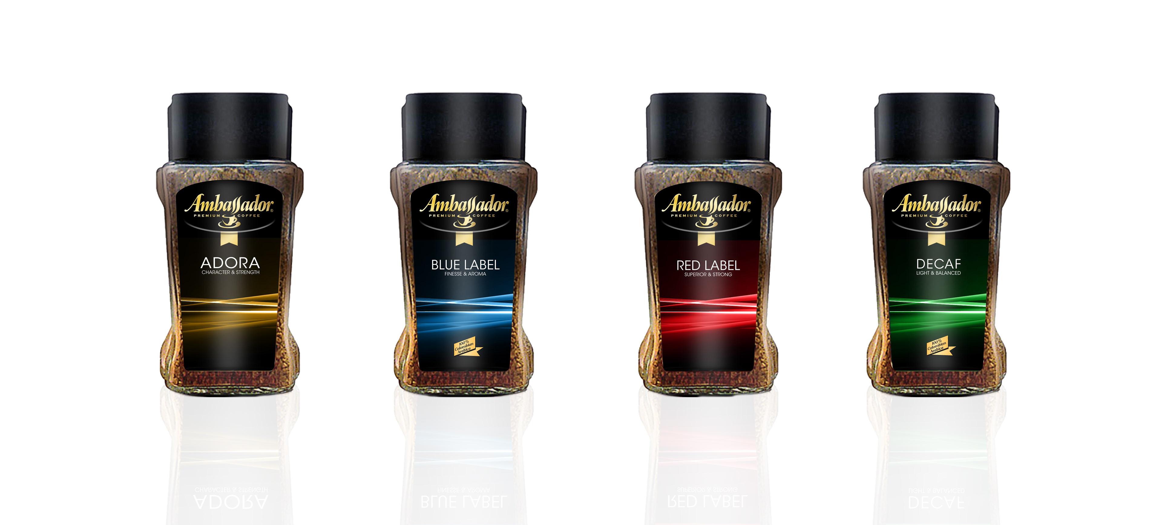 Кофе амбассадор (в зернах, молотый), продукция бренда ambassador