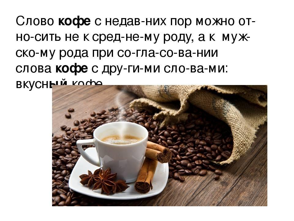 Почему слово «кофе» мужского рода?  - «как и почему»