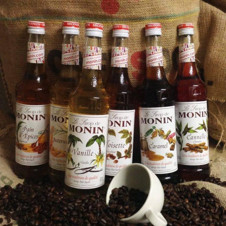 Сиропы для кофе (карамельный, ванильный, кленовый, мятный и др.)