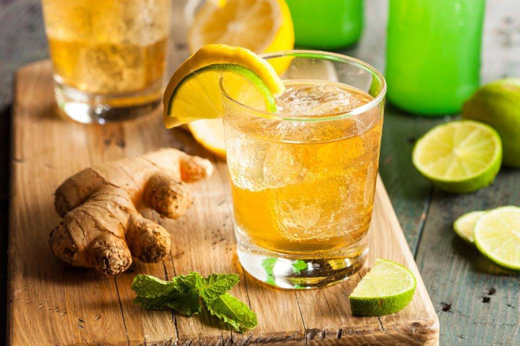 Рецепты домашнего имбирного лимонада