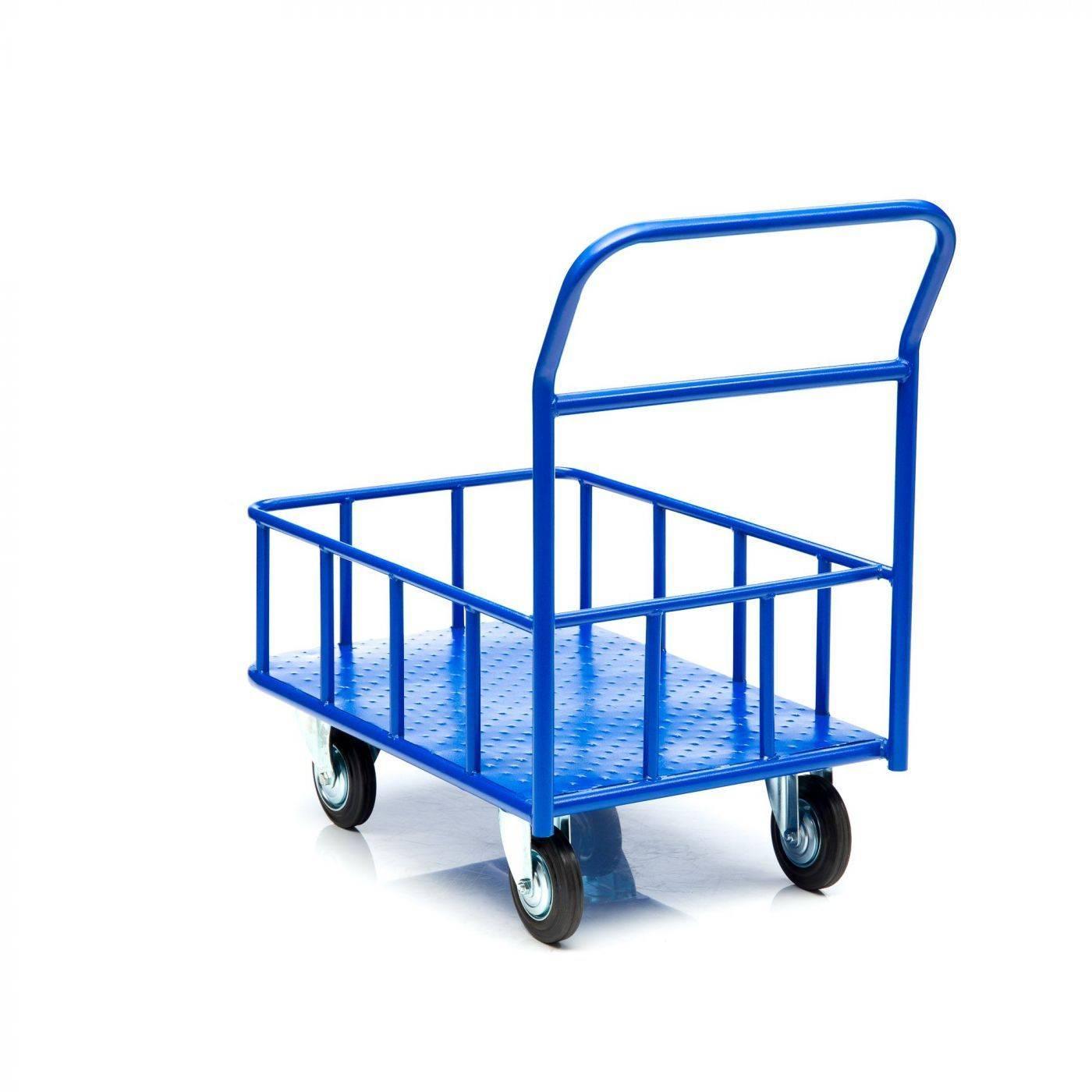 Платформенная тележка на 4 колесах: четырехколесная гидравлическая платформа