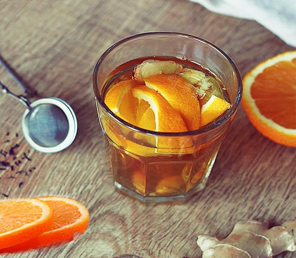 Завариваем полезный чай с добавлением корок апельсина