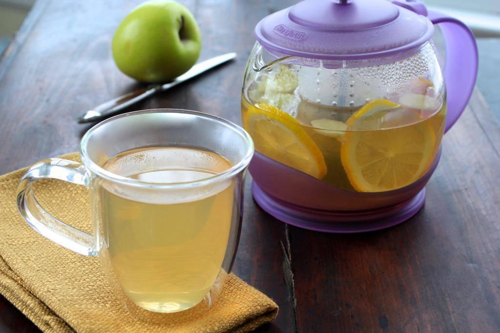 Зеленый чай с добавлением лимона