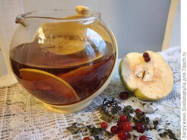Свойства и рецепты чая с айвой – полезного напитка с приятной вяжущей кислинкой