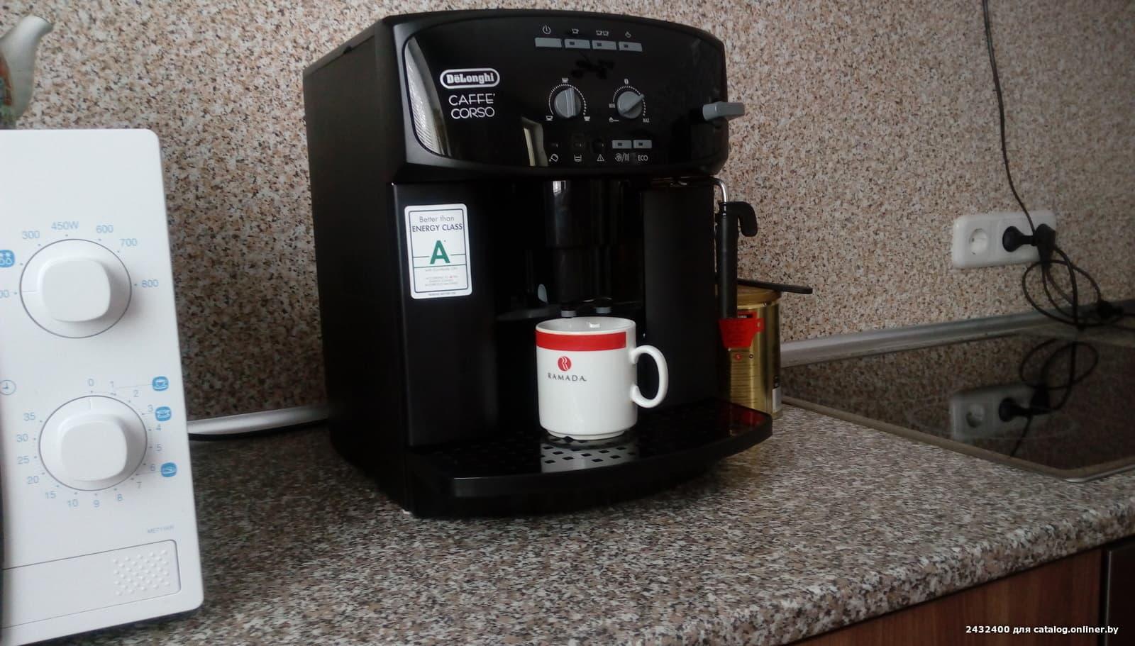 Кофемашина delonghi esam 2600 | caffe corso | magnifica.