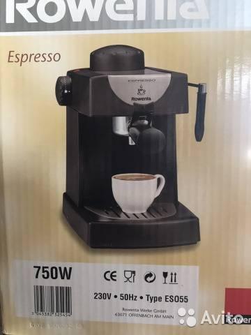Кофеварка эспрессо rowenta es 3200