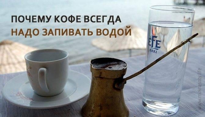 Зачем к кофе подают холодную воду, как правильно запивать его и почему