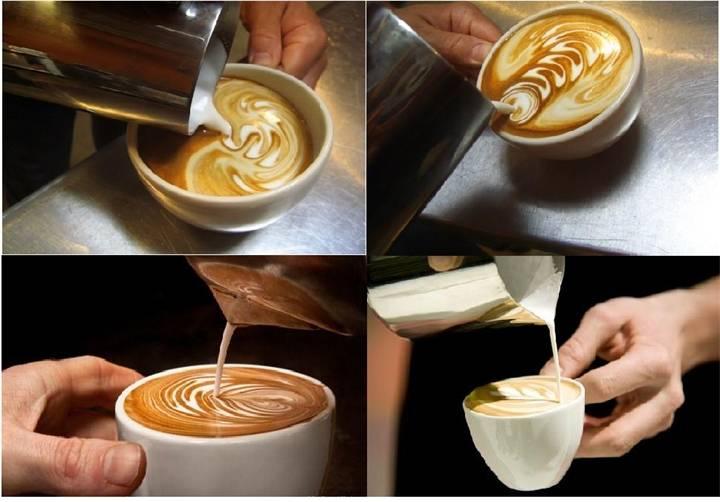Что такое латте-арт? немного секретов украшения кофе