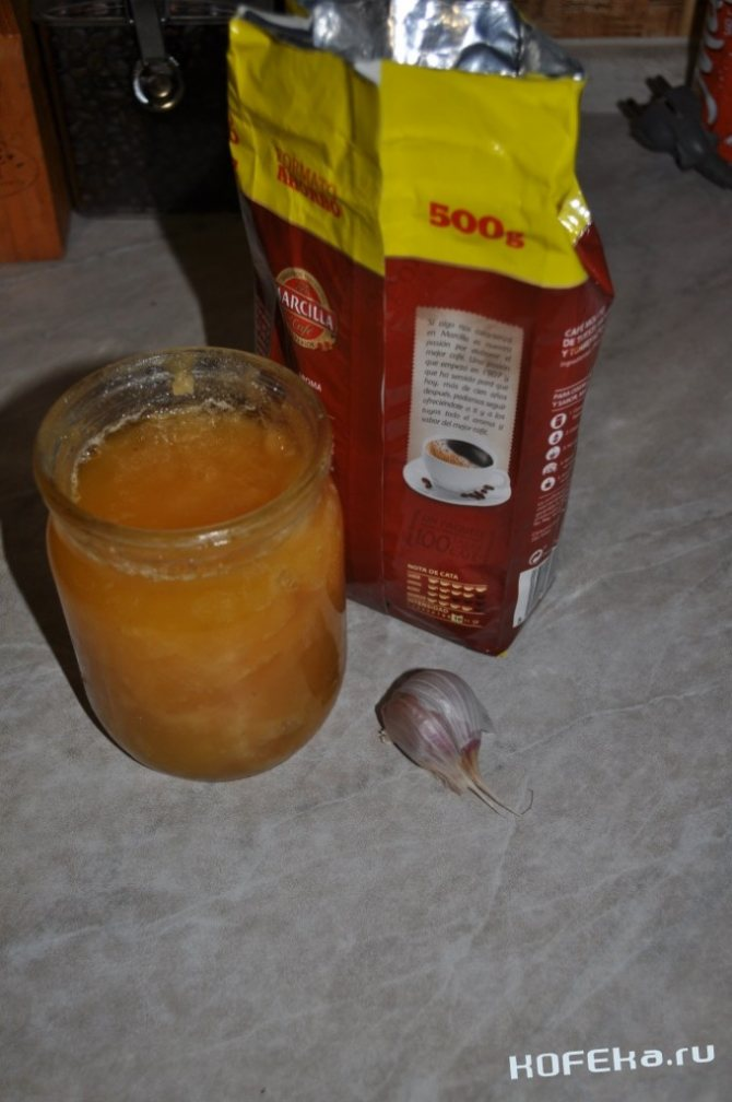 Секреты приготовления кофе с чесноком и медом с фото для новичков