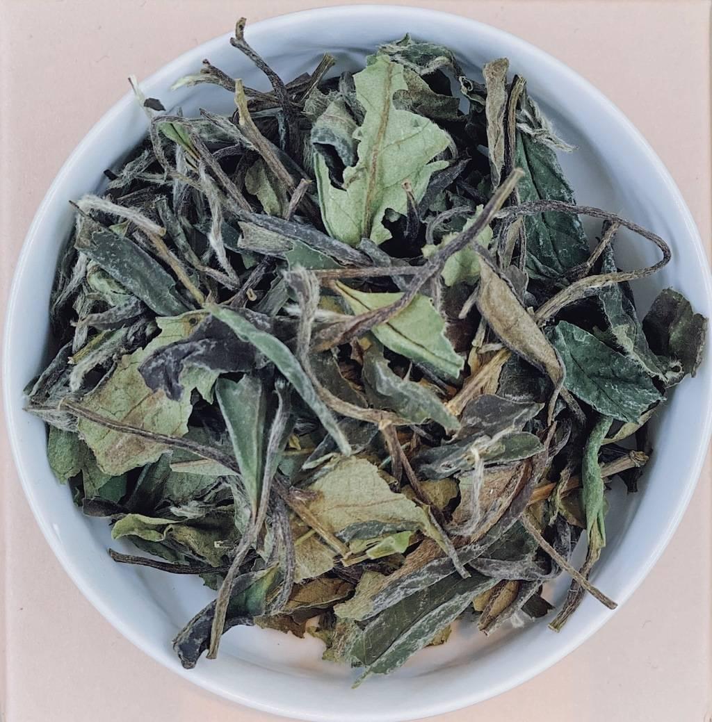 """Белый чай """"бай му дань в.к."""" с типсами (китай) 50г.  (№tea_t_white_baj_mu_danj)"""