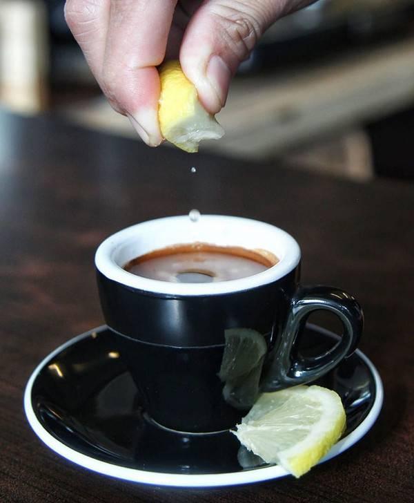 Рецепт приготовления кофе с лимоном