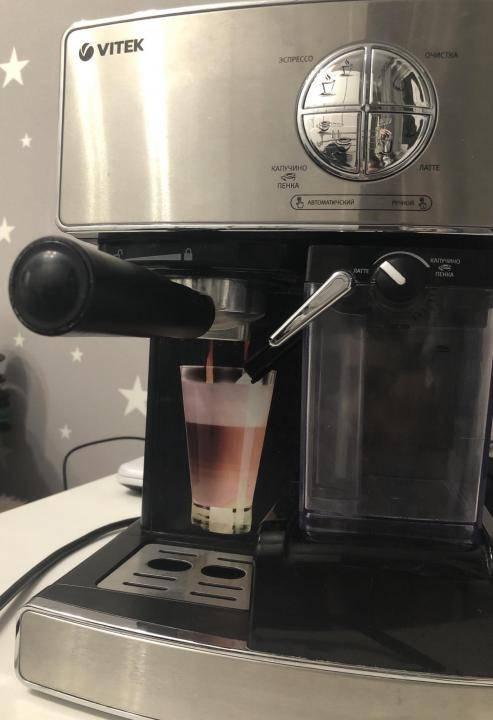 Обзор рожковых кофеварок витька с автоматическим капучинатором: vitek vt-1514/1516/1517 от эксперта