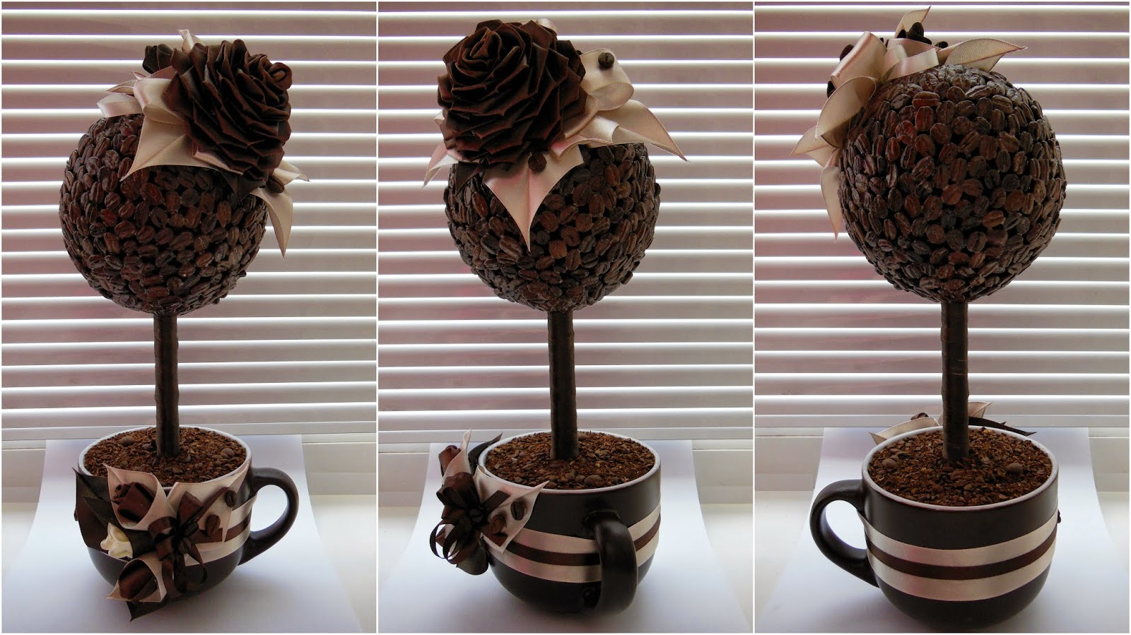 Топиарий из кофе: мастер-класс с фото и видео кофейный топиарий