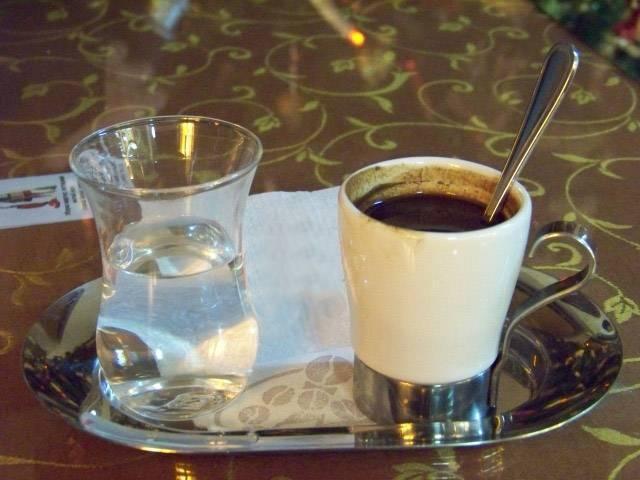 Почему с кофе подают воду