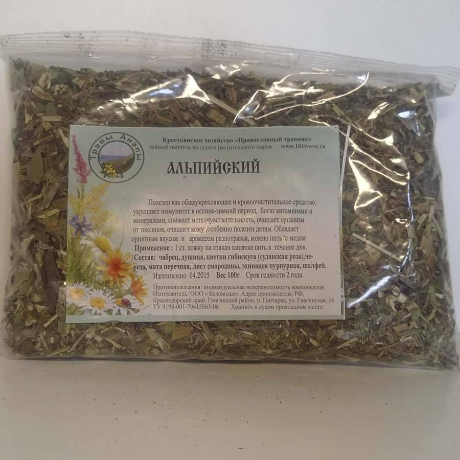 Состав монастырского чая от остеохондроза - виды трав