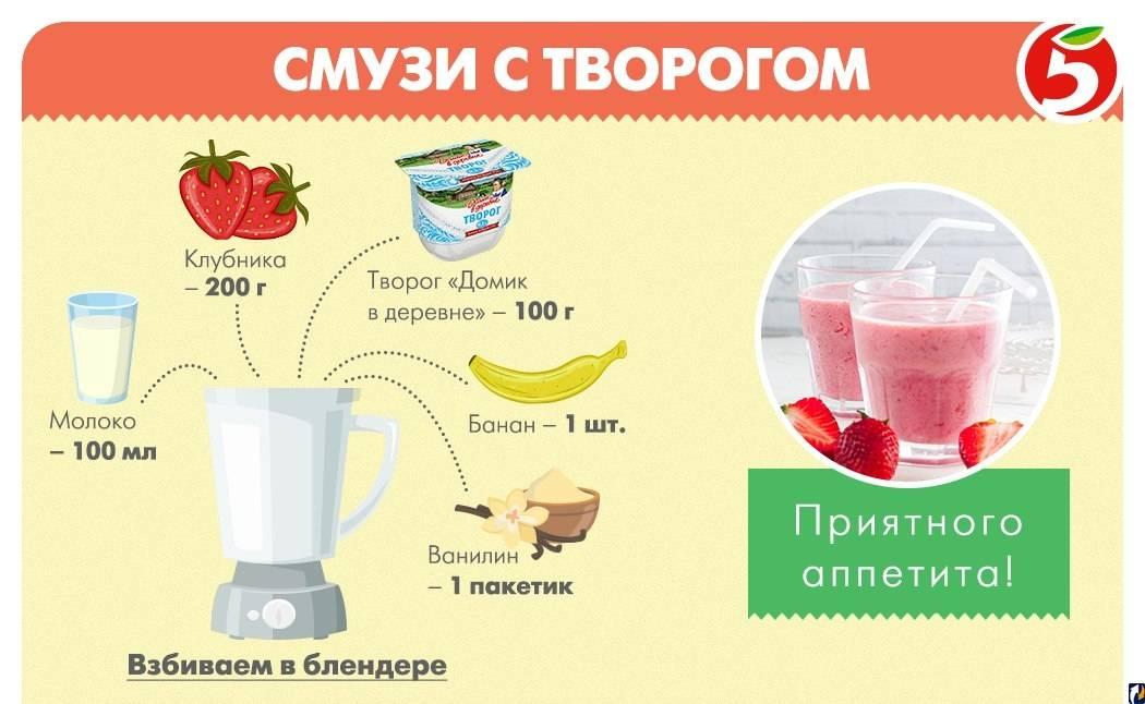 Бананово-клубничный смузи – 11 рецептов