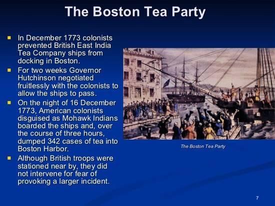 Бостонское чаепитие - teaterra   teaterra