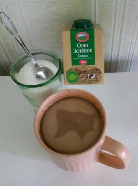 Калорийность кофе с молоком с сахаром и без