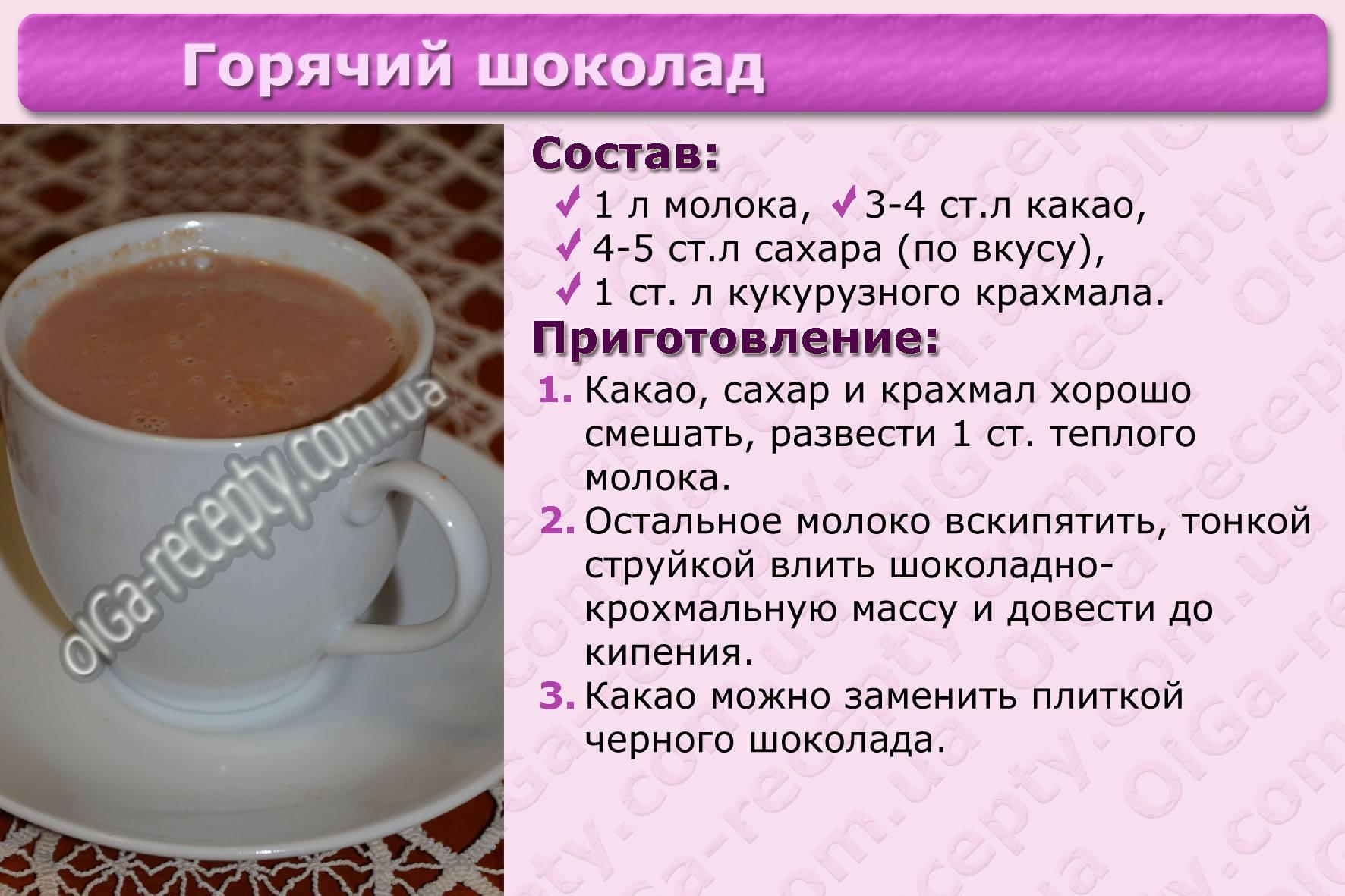Как сварить какао из какао порошка — 7 рецептов (на молоке и воде)