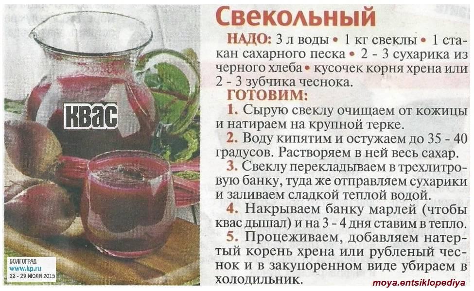 Свекольный квас- лучшие рецепты приготовления дома