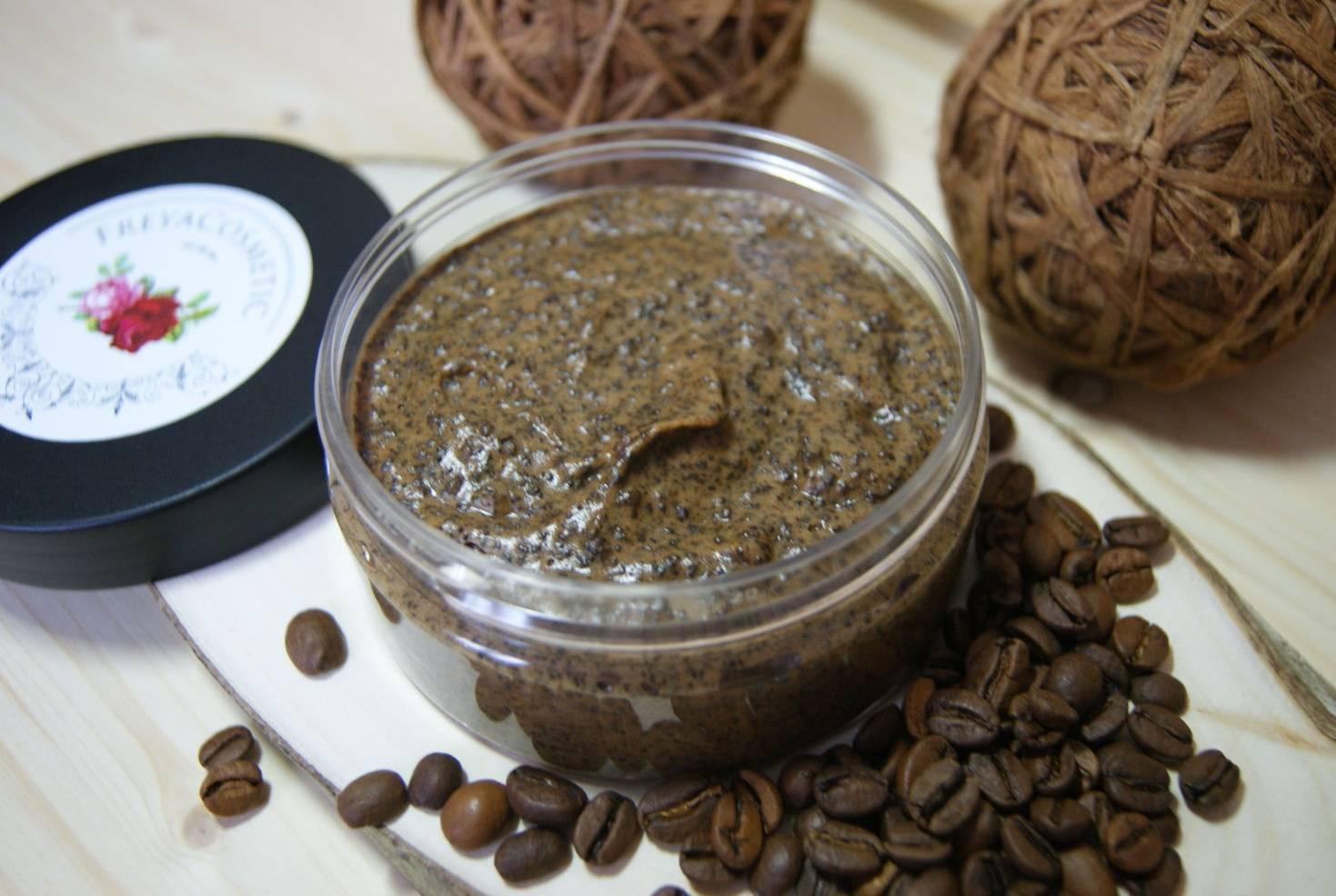 Приготовление и использование скраба из кофе и меда