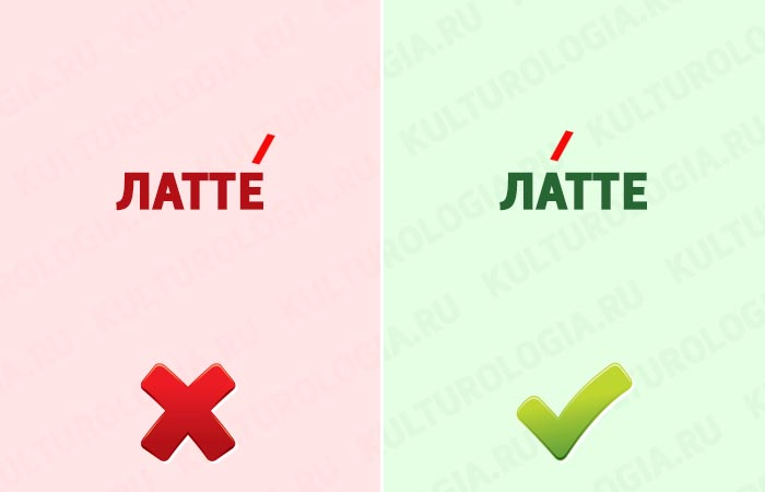 Ударение в слове латте: как правильно. род латте.