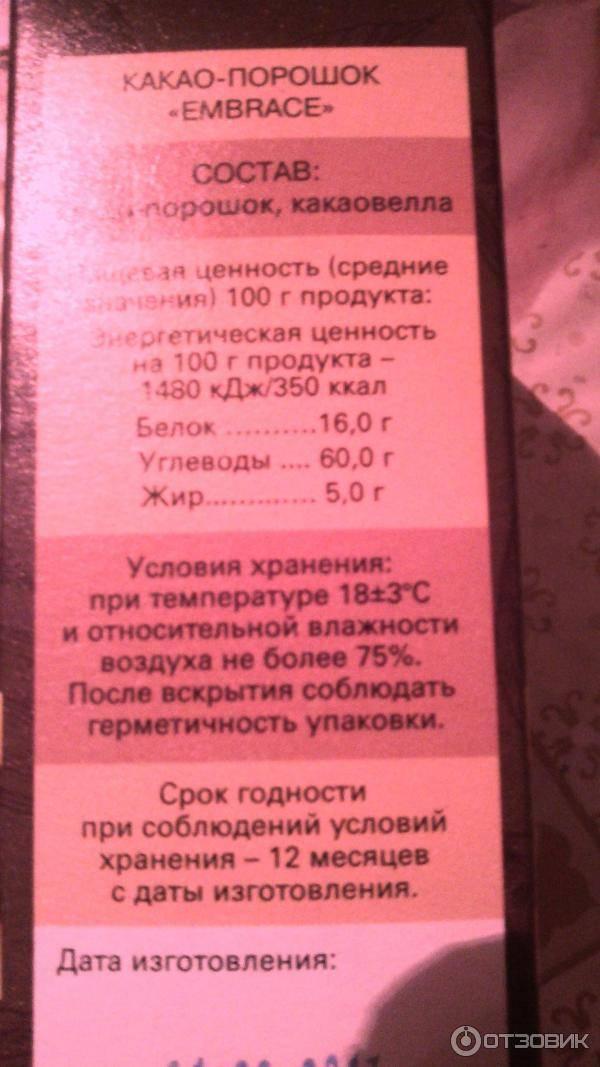 Ароматное какао и его калорийность