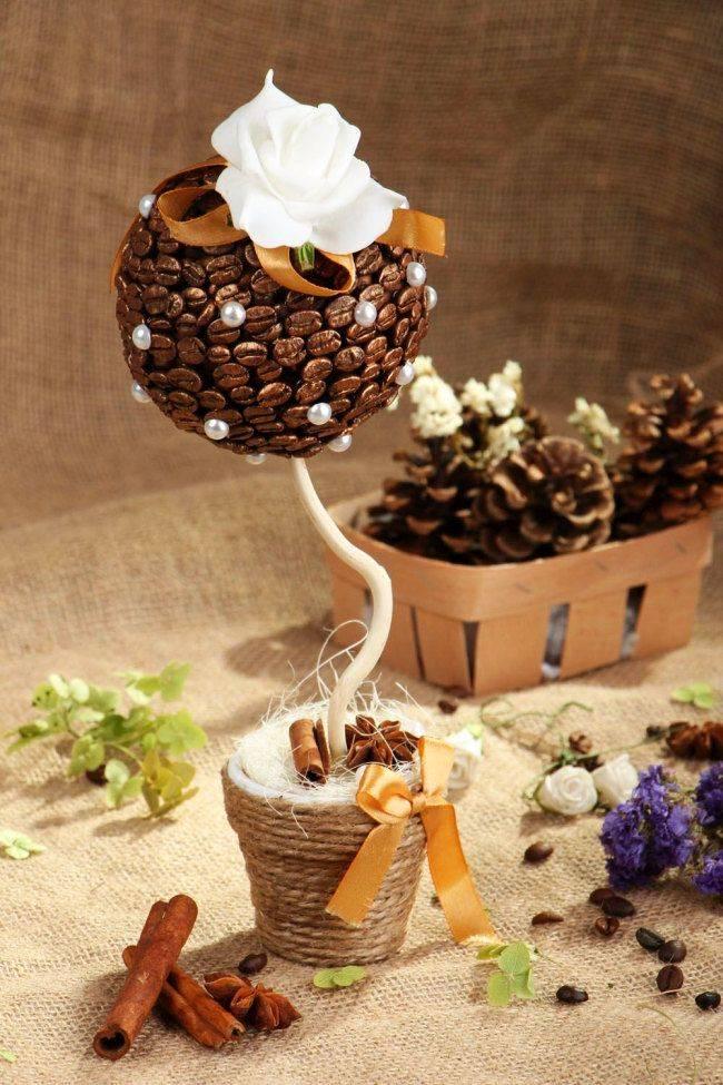 Как сделать кофейное дерево в домашних условиях своими руками + фото